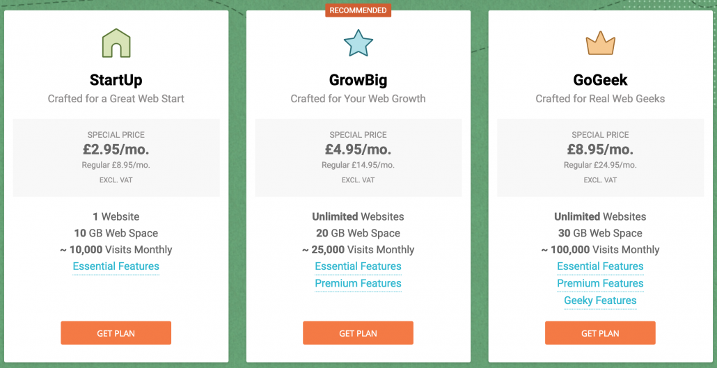 website development prices